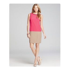 Ann Taylor Colorblock Woven Sleeveless Shift Dress